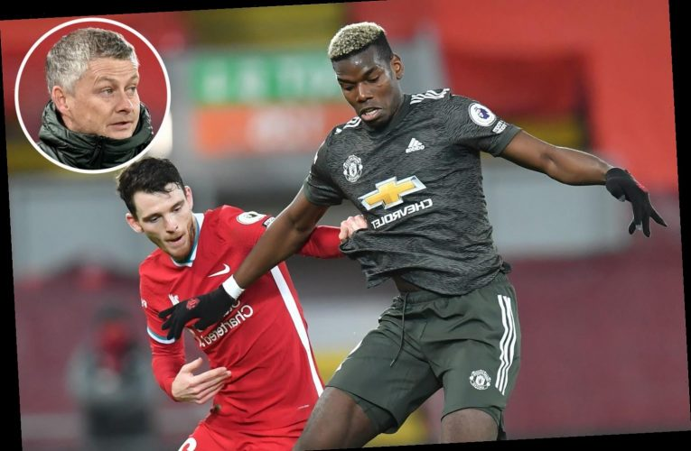 Solskjaer admits Man Utd lacked composure against Liverpool but hails 'excellent' Paul Pogba for selfless role