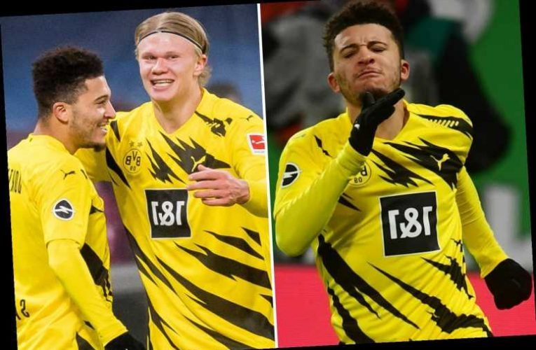 Leipzig 1 Dortmund 3: Watch Jadon Sancho set up Erling Haaland after scoring to fire Borussia back into title race