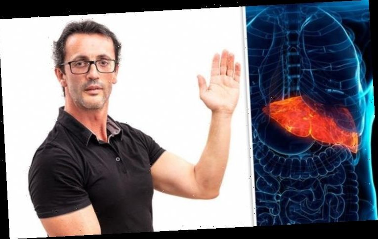 Fatty liver disease symptoms: Blotchy red palms may be a sign of a damaged liver