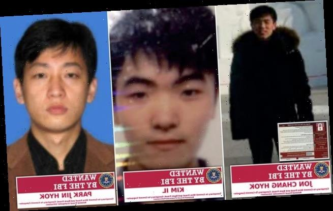 US charges three North Korean hackers with trying to steal £1billion