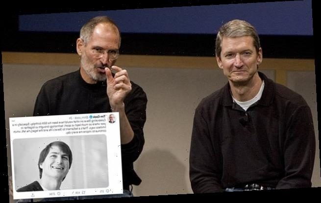 Apple CEO Tim Cook wishes Steve Jobs a happy 66th birthday in a tweet