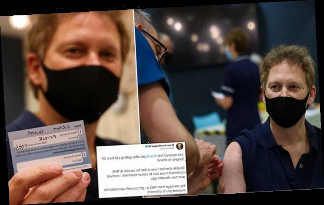 Grant Shapps, 52, becomes first Cabinet minister to receive vaccine