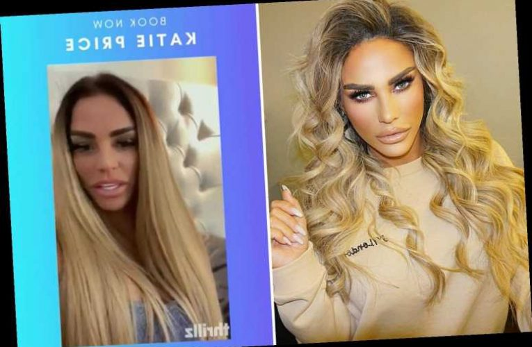 Katie Price is flogging personalised private messages to fans at £250 a pop