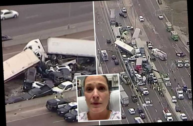 Fort Worth accident – Nurse crawls out of deadly 136-car Texas crash then goes to WORK
