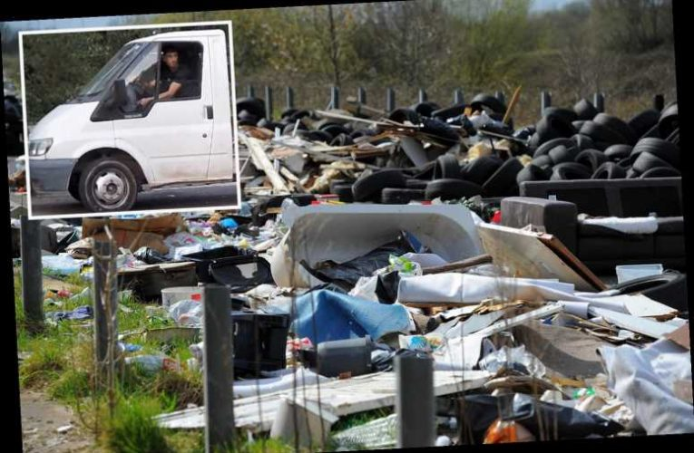 Hunt for one of Britain's worst fly-tippers who used fake number plates to dump waste on roadsides