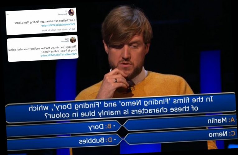 Who Wants To Be A Millionaire fans furious as primary school teacher fails to know what colour Dory from Finding Nemo is