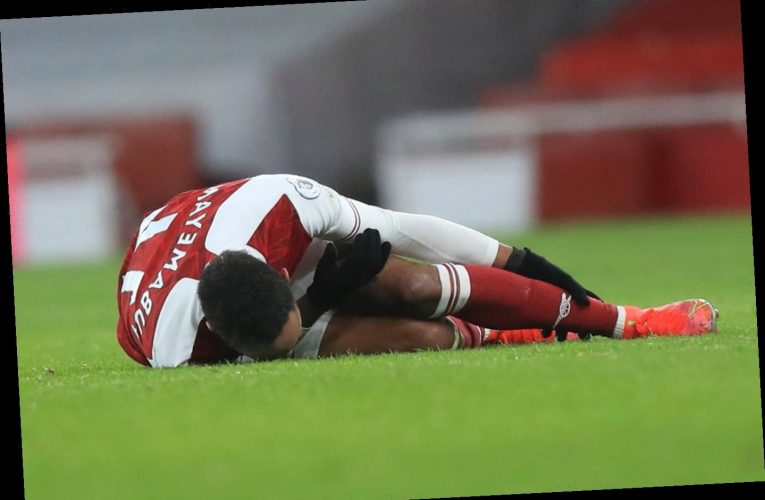 Aubameyang twisted his ankle after hat-trick in Arsenal's win over Leeds but should be fit for Benfica, confirms Arteta