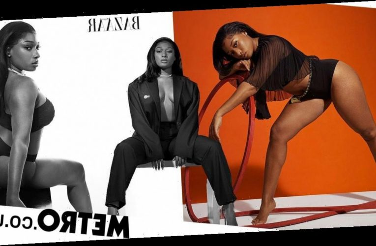 Megan Thee Stallion discusses getting comfortable in her skin in fierce new pics