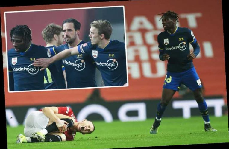 Watch Southampton's Jankewitz get sent off after 82 SECONDS on debut for shocking lunge on McTominay in Man Utd romp