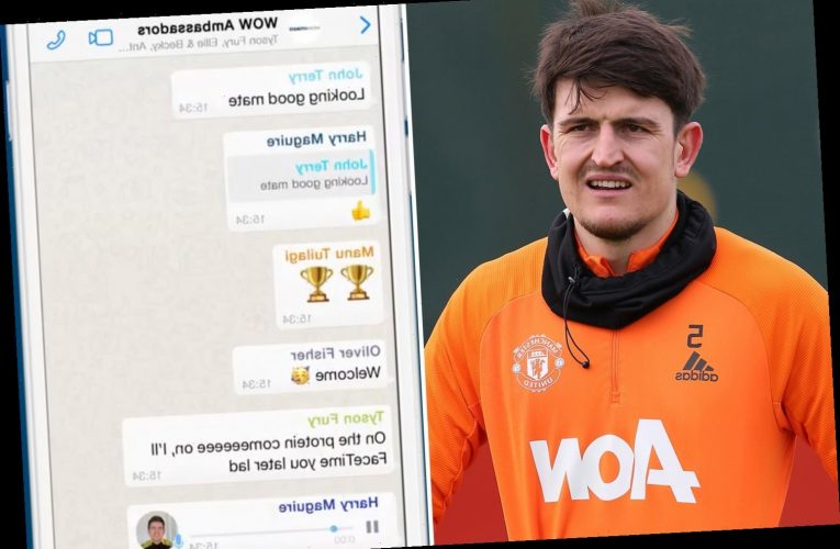 Tyson Fury welcomes Man Utd star Harry Maguire to WOW Hydrate family – but Man City's Kevin De Bruyne isn't as pleased