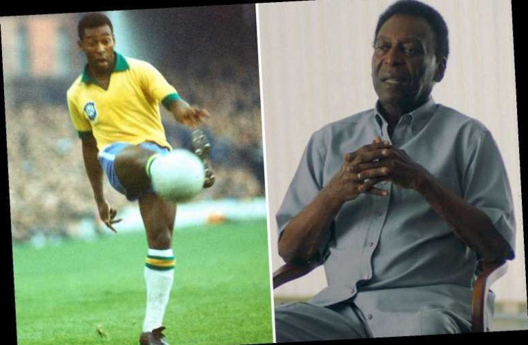 Pele breaks down in tears and admits he was 'no Superman' as he recalls pressure he put himself under as football star