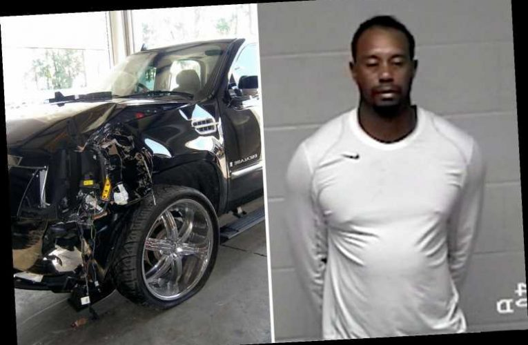 Tiger Woods' crash is latest in shocking series of his road smashes including 2009 wreck and 2017 drug-drive rap