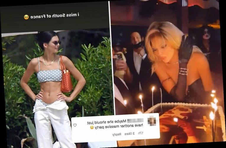 Kendall Jenner slammed for complaining she 'misses the south of France' during Covid pandemic and posting sexy pic
