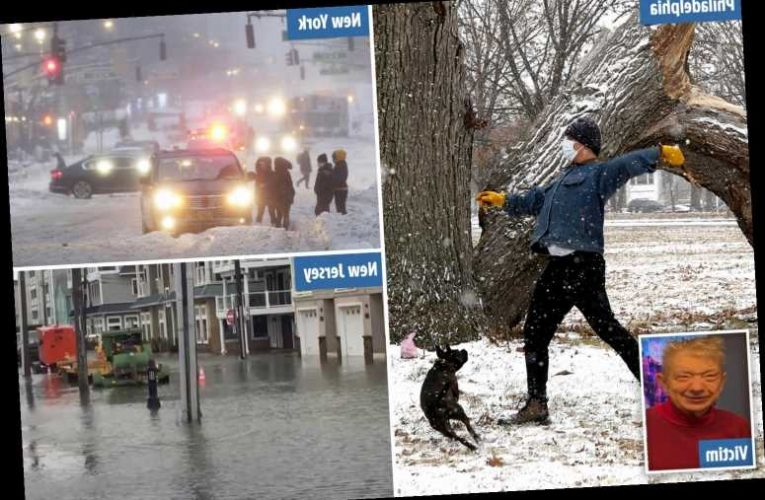 Storm Orlena – Woman freezes to death and 3 others die as 2ft of snow dumped on East Coast, sparking 660 crashes