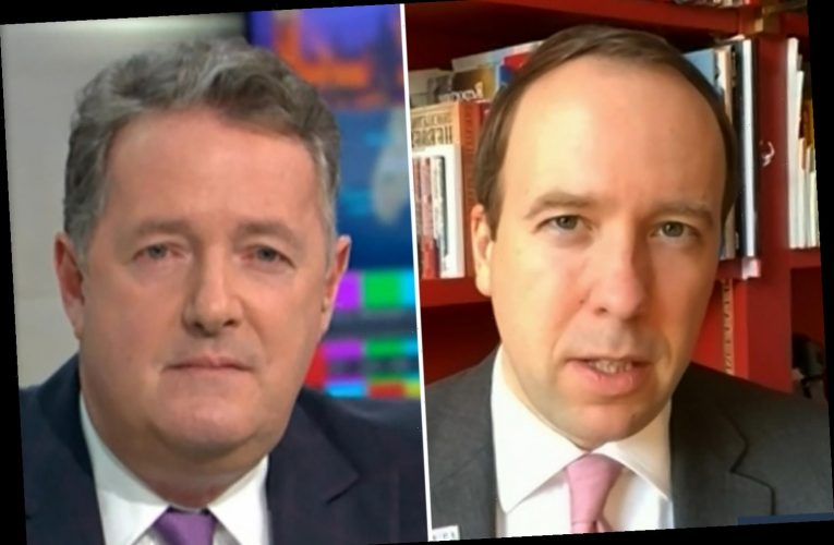 Piers Morgan in row with 'patronising' Matt Hancock after Health Secretary demands THANKS for dealing with pandemic