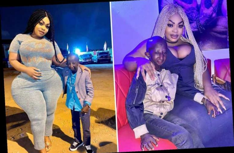 Plus-sized model dubbed 'Ivorian Kim Kardashian' hits out at cruel trolls who call new 3ft fiance an 'alien'