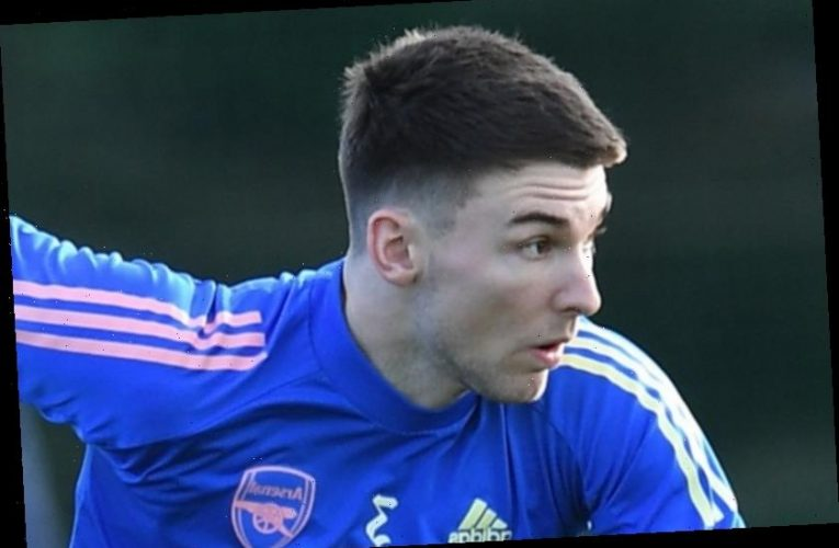 Kieran Tierney returns to Arsenal training in massive boost ahead of Europa League clash with Benfica