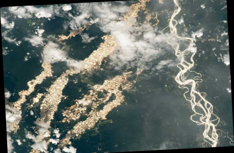 Glittering image by NASA shines light on land destroyed by gold mining