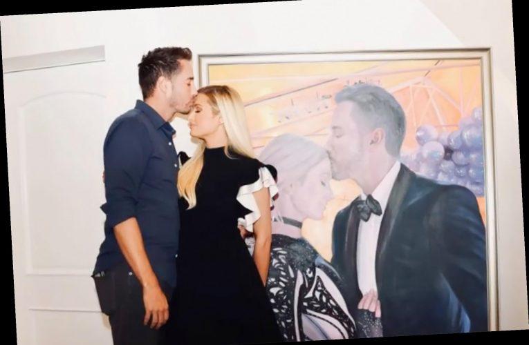 Paris Hilton gifts boyfriend Carter Reum a life-size portrait of the couple