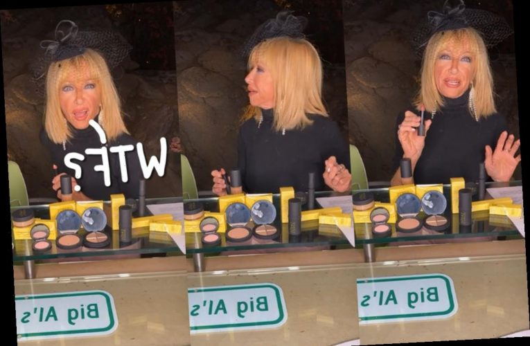 Home Intruder Interrupts Suzanne Somers' Makeup Live Stream – And She's SO Cool About It! WATCH!
