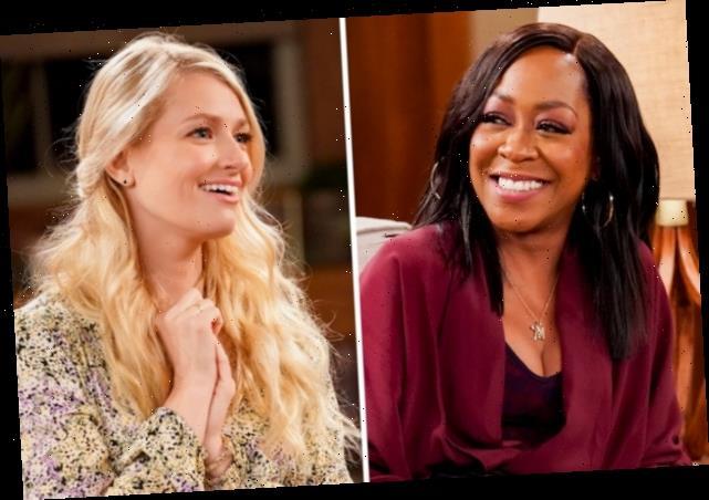 The Neighborhood's Beth Behrs Teases Hubby's Guest Spot; Tichina Arnold Previews Tina's Pat Benatar Moment