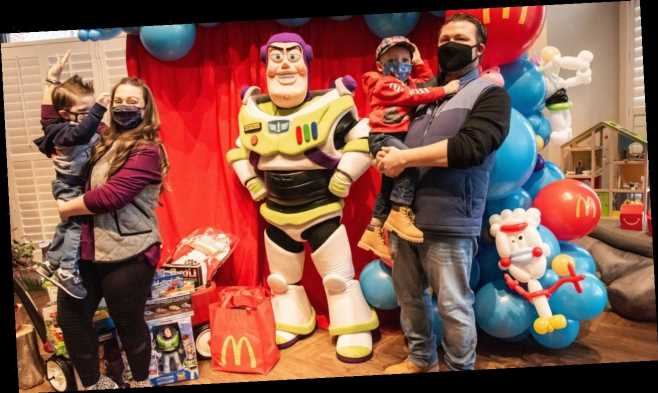 McDonald's franchisees surprise 3-year-old cancer survivor with private party