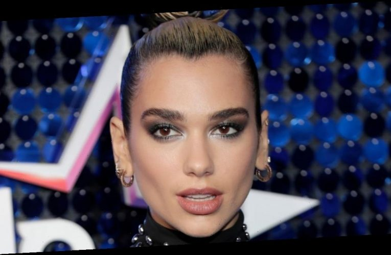 Dua Lipa channels Kim Kardashian in complete hair and beauty transformation for the Grammy Awards