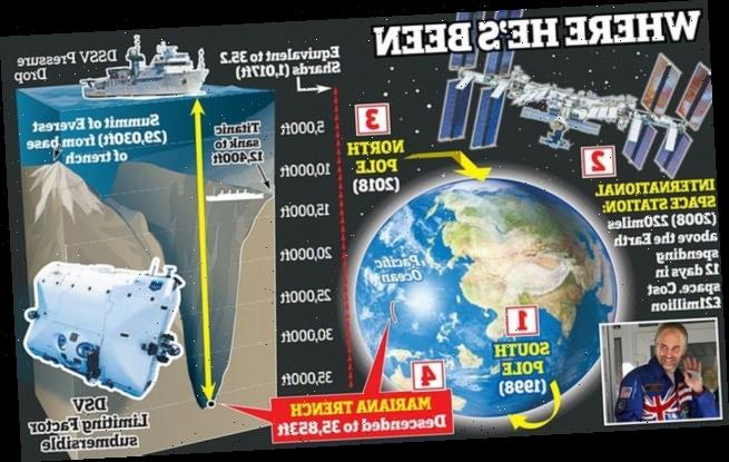 UK adventurer travels to space and now the deepest underwater trench