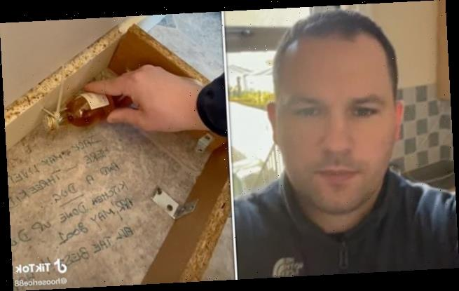 Kitchen fitter finds 20-year-old message and gift under floorboards