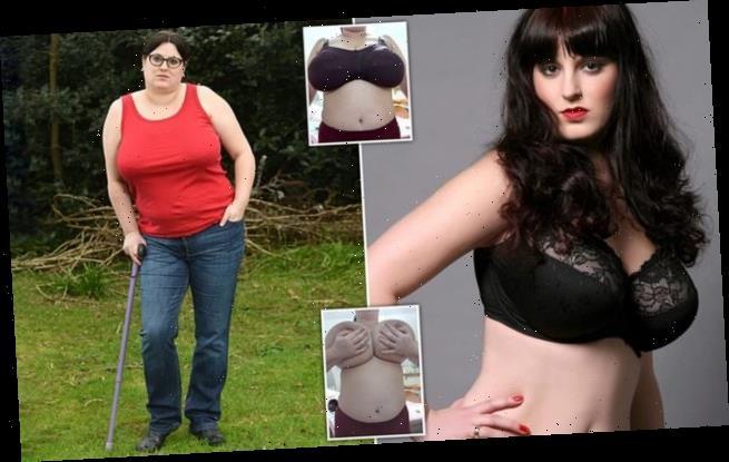 Woman with boobs that weigh 2st desperate for a breast reduction