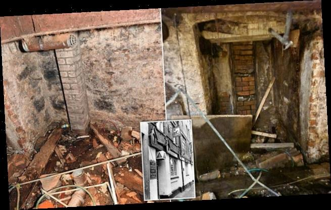 Builders discover forgotten cellar belonging to 250-year-old pub
