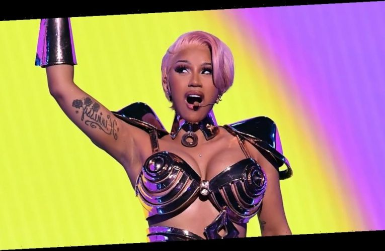 """Cardi B's Rose-Gold Grammys Hair and Makeup Was Inspired by """"Today's Woman"""""""