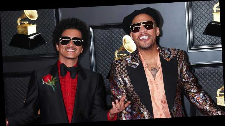 Bruno Mars, Anderson .Paak Team Up for Smooth Grammys Performance