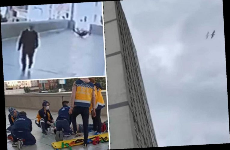 Phone-obsessed boy, 16, falls to his death from 12th floor flat while 'trying to catch mobile that slipped out his hand'