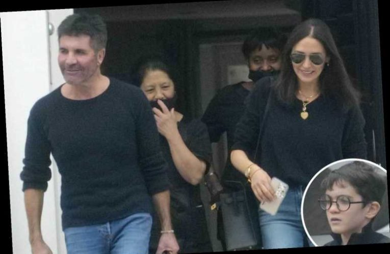 Simon Cowell and partner Lauren Silverman leave Britain with son Eric after two-month stay