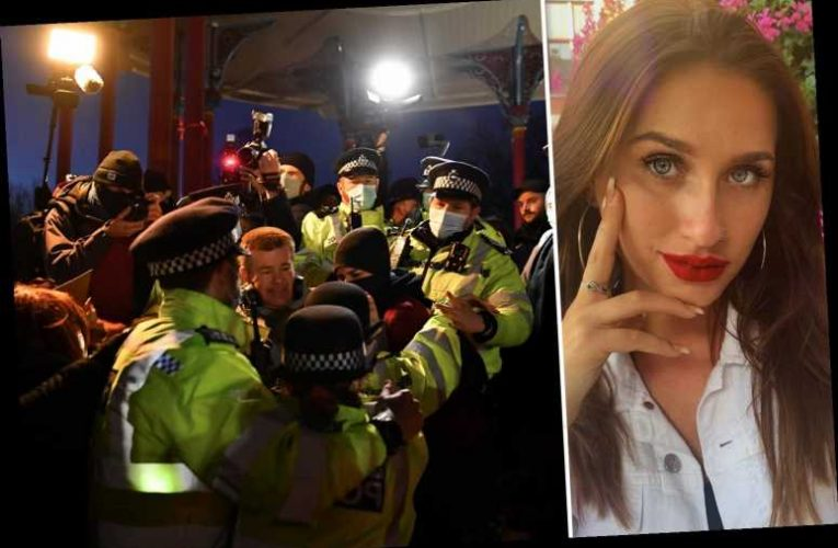 EastEnders' Milly Zero 'physically pushed and threatened by the police' as she attended Sarah Everard vigil