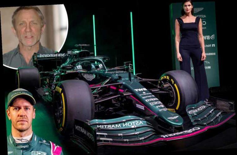 James Bond stars Daniel Craig and Gemma Arterton reveal first Aston Martin F1 car in 61 years
