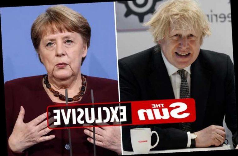 Boris Johnson teams up with Angela Merkel to head off EU Covid vaccine war
