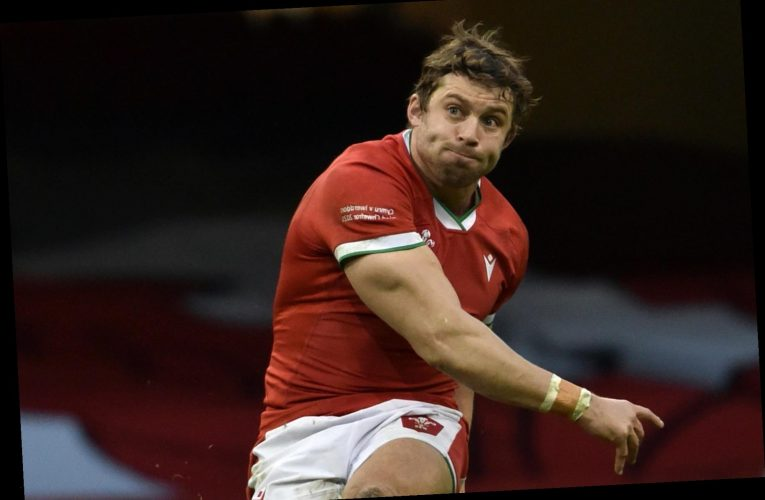 Why isn't Leigh Halfpenny playing for Wales against France and who is his replacement?