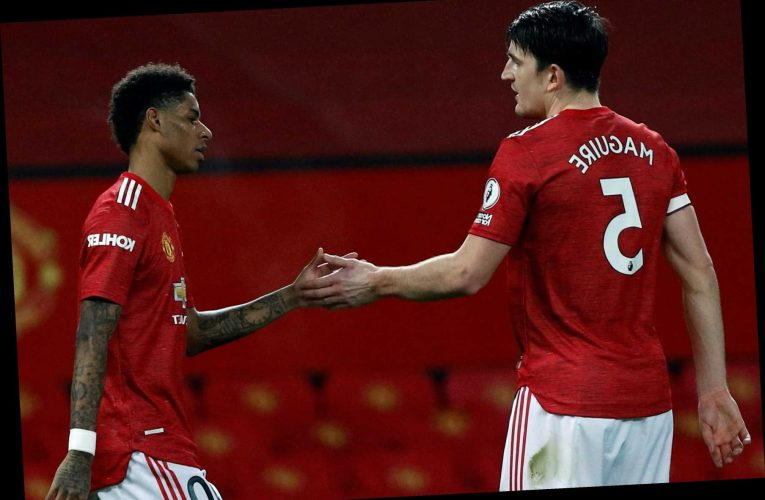 Man United stars Marcus Rashford and Harry Maguire  involved in X-rated bust-up during drab draw at Crystal Palace