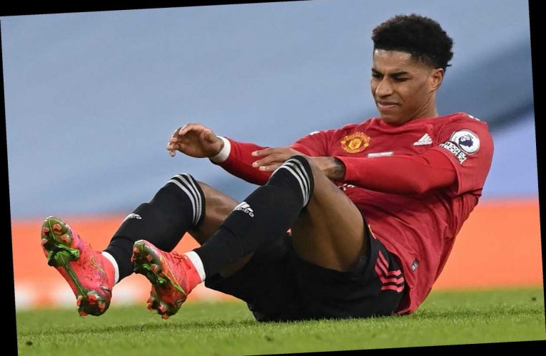 Man Utd boost with Marcus Rashford injury not as bad as first feared but forward still faces layoff after City knock
