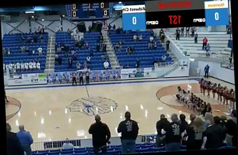 High school basketball announcer calls girls kneeling for anthem the N-word