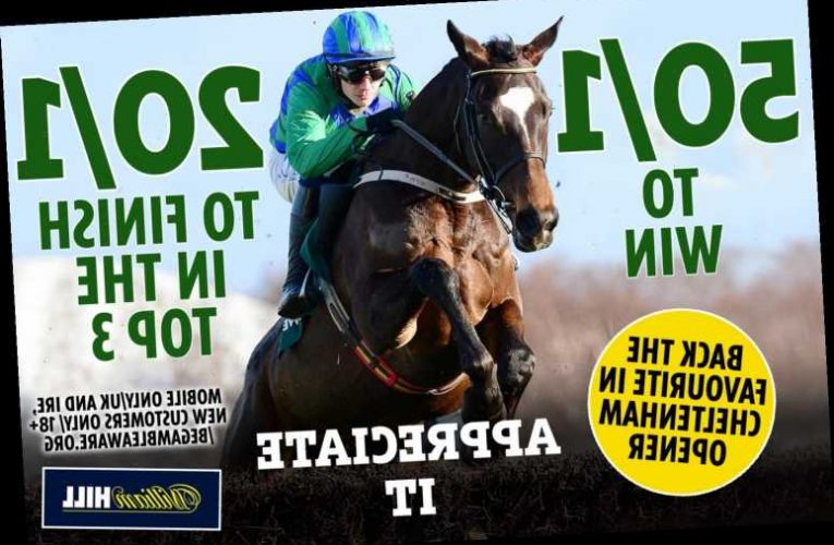Cheltenham betting offer: Get huge 50/1 price boost on the favourite for very first race of 2021 festival