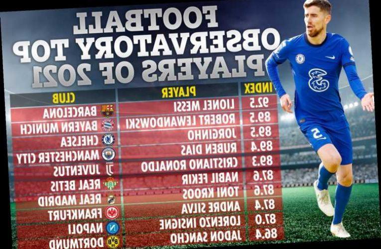 Europe's best stars of 2021 revealed with Chelsea's Jorginho THIRD and Granit Xhaka putting Arsenal team-mates to shame