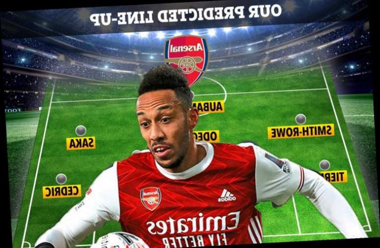 How Arsenal could line up against Olympiacos with Aubameyang set to return after North London derby snub