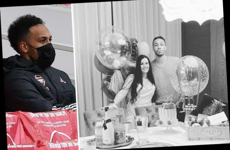 Aubameyang seen for first time since Arsenal axe in Instagram post celebrating anniversary with wife Alysha Behague