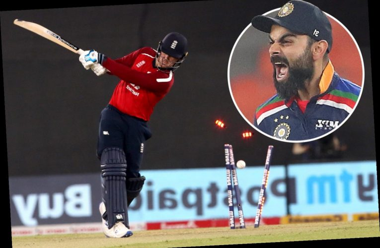 England lose T20 series in India as Malan and Buttler star before batting collapse chasing Kohli-inspired 225