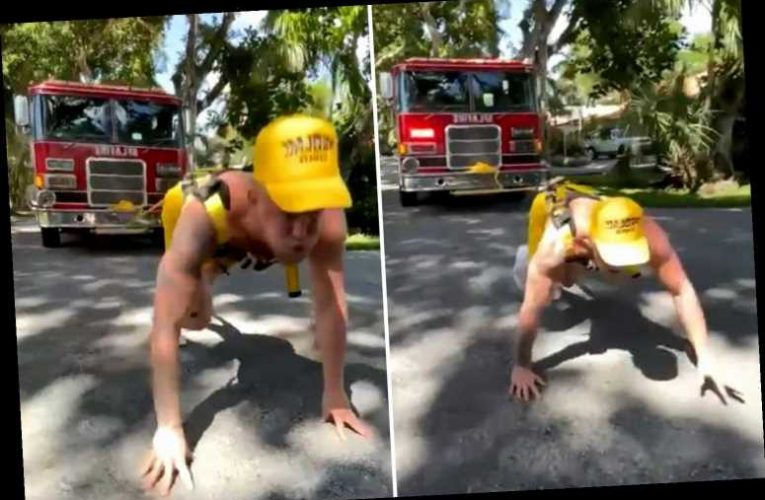 Watch Jake Paul pull FIRE TRUCK as he predicts first-round KO of Ben Askren – but fans are convinced he had help