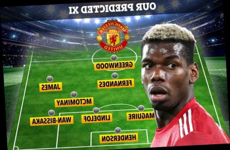How Man Utd could line up vs Leicester in FA Cup with Rashford and Cavani injury doubts but Pogba in after Milan goal