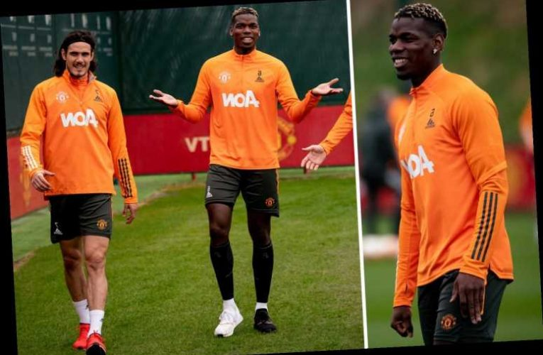 Pogba and Cavani hand Man Utd huge boost by returning to training ahead of crunch Europa League and FA Cup clashes